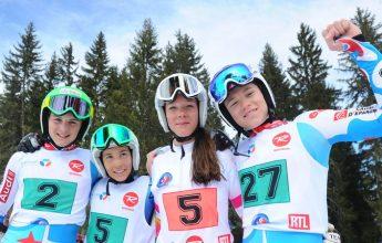 Custom competition course Dénériaz ski Academy