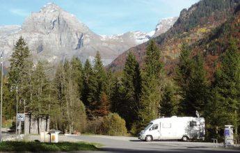 Service area for camper vans