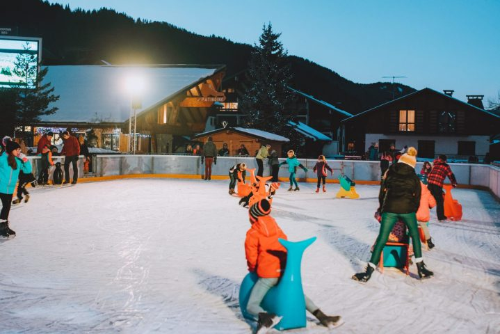 Outside icerink Morzine