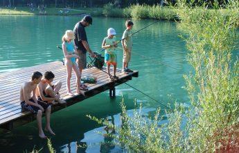 Trout fishing on Lac Bleu