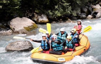 Family-friendly rafting