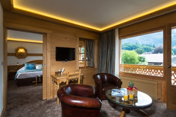 Living room and bedroom luxury suite