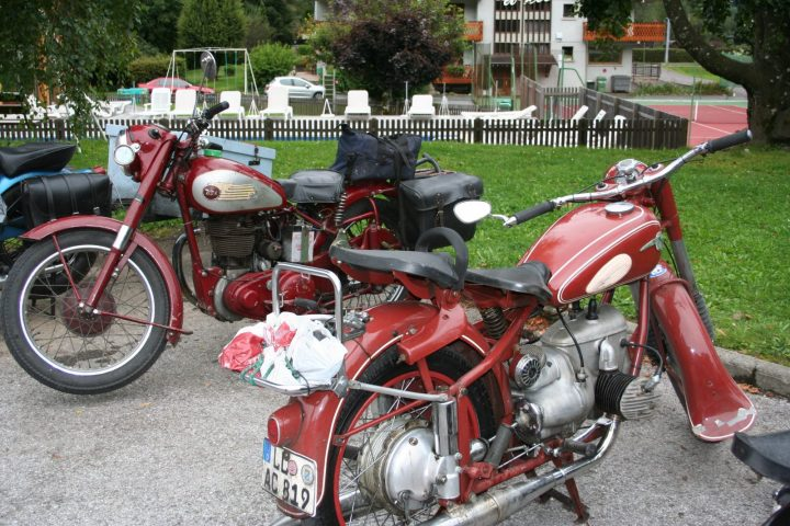 Motobike meeting at the Neige et Roc hotel
